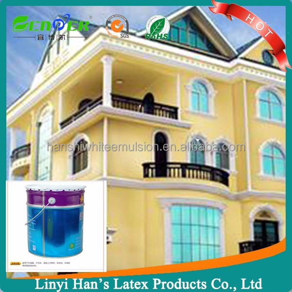 High quality economical acrylate emulsion white exterior wall latex paint