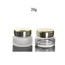 Fuyun Quick shipping 20g luxury cosmetic packaging low MOQ clear/frosted <strong>glass</strong> cream <strong>jar</strong>