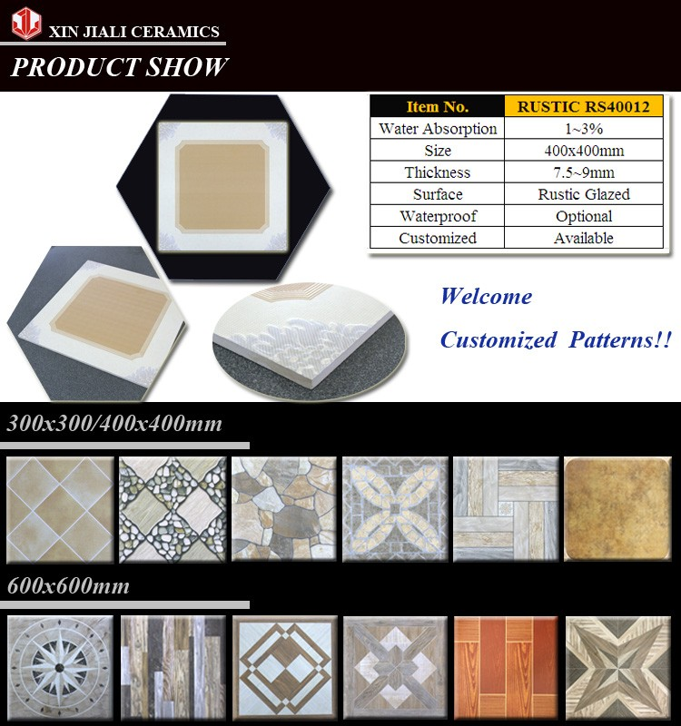Durable China supplier RS40012 400X400 RUSTIC FLOOR TILES