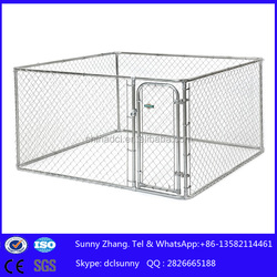 7.5'X7.5'X4' Australian standard Large outdoor galvanised chain link pet enclosure/dog kennels & dog cage & dog runs