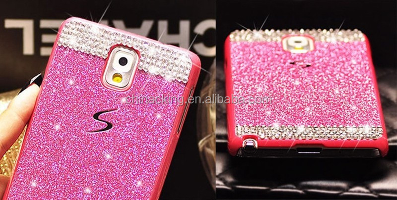 For Samsung Galaxy S5 I9600 Luxury Case Glitter Rhinestone Bling Diamond Sparkling Hard PC Back Cover