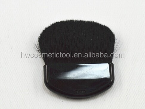 Goat hair half moon compact brush