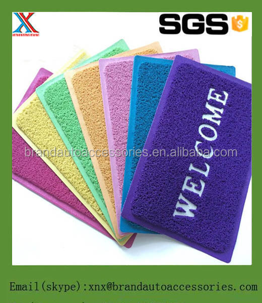 Hot sale washable coloring PVC coil floor mat