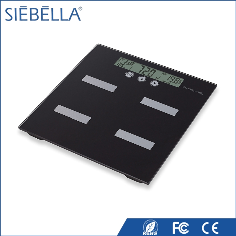 SIEBELLA big LCD BMI function body fat smart monitor digital body fat analyser personal bathroom scale for man fitness analysis