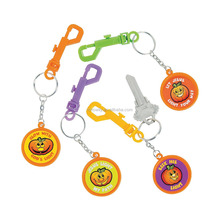 Promotional Gifts Cheap Custom Cool Fantastic Plastic Christian Pumpkin Backpack Clip Key Chains Wholesale