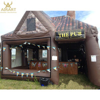 Custom design tent style inflatable irish pub