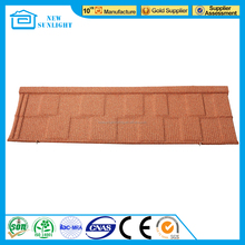 Nigeria style waterproof corrugated color stone coated metal roof tile
