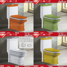 2016 Foshan Deltar new products colorful toilet with thin seat cover , green yellow orange washdown one piece toilet