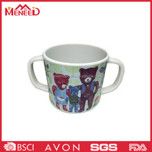 2016 melamine two handled 3d personalized plastic mugs for kids