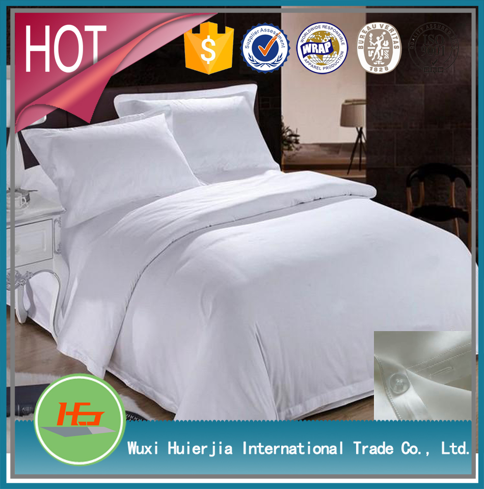 100% Cotton Bleach White King Size Hotel Bed Cover