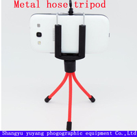 Simple tripod for digital camera bright red metal material tripod 1/4 inch screw