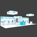 Detian Offer island exhibition booths tradeshow booths design standard trade show booth