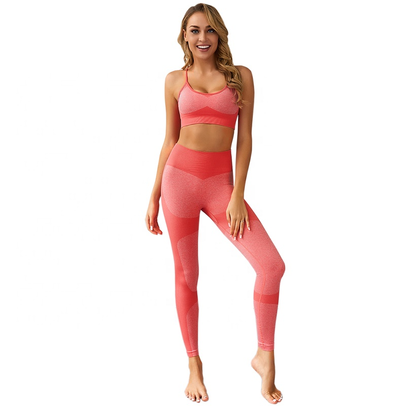 Ptsports Custom Workout Yoga Sets Clothes Fitness Yoga Leggings Seamless Gym Tights and Sports Bra Set For <strong>Women</strong>