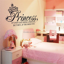 "130x65 cm (51 ""x 26"") princess <span class=keywords><strong>pared</strong></span> sticker cotizaciones adornos living room diy te negro Fotomurales adesivo <span class=keywords><strong>de</strong></span> parede vinilo removible df5208"
