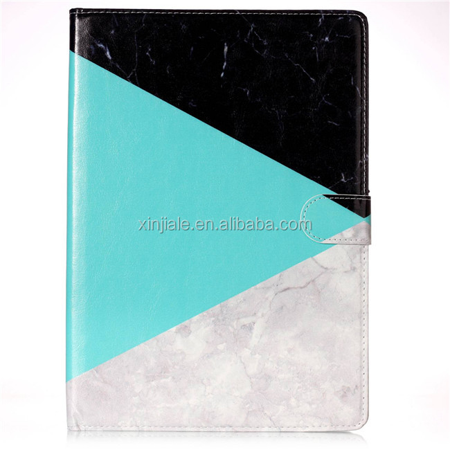 Hot selling marble pu leather wallet mobile phone case for ipad 9.7'' for ipad 8 2017