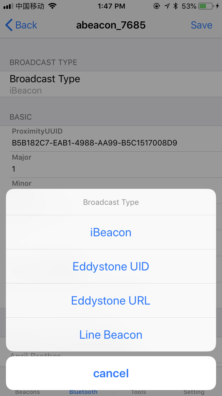 Bluetooth 4.0 Ibeacon with Long battery life compatible with Eddystone URL