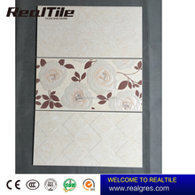 Kitchen Ceramic Tile Flower Design Bathroom Glazed Wall and Floor Ceramic Tile