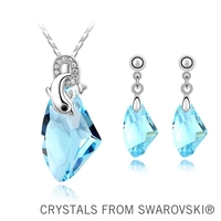 2015 gift for girlfriend! wedding jewelry sets crystal dolphin necklace set Made with SWAROVSKI ELEMENTS for Christmas gift