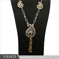 Factory Price Custom Long Chain Hip Hop Popular Pendant Necklace Gold Plated Jewelry Necklace