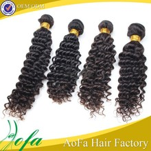 can be dyed natural color light brown curly weave extensions