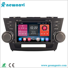 Android car radio In Dash Car DVD Player with GPS Navigation for Toyota Highlander