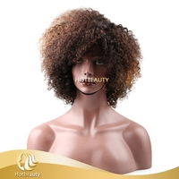 2017 new arrival colored kinky curly wig, sexy curly style hair