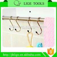 Stainless Steel Silver Colour Heavy-duty Multi-purpose S Shaped Hanging Hooks for Plants , Towels in Kitchen and Bathroom