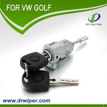 Auto car parts wholesale volkswagen VW GOLF MK4 SALOON DOOR LOCK SET + 2 KEYS + 1 BARREL Lock cylinder, Ignition lock, Golf 4