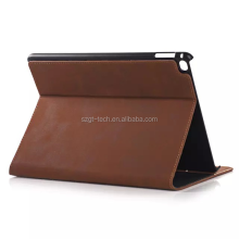 Card slots function of slotted weight book style PU leather cover case for iPad Air 2