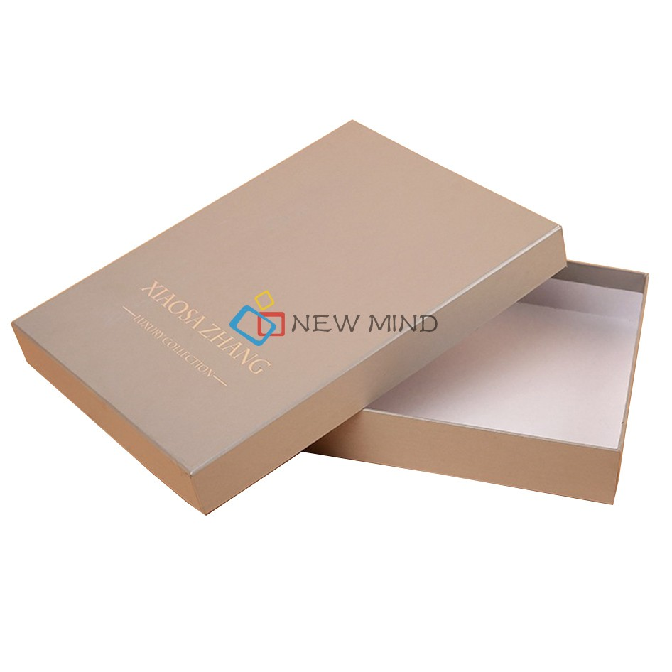 Promotion customized design garment packaging paper box for clothing