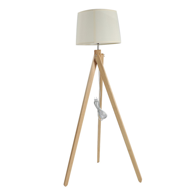 Factory price decorative fashion wooden tripod floor lamp modern for home or hotel
