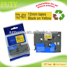 36mm tz661 black on yellow tape tze661 tze 661 laminating label tapes