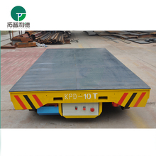 Metal plant low voltage powered transport vehicle with V support bracket
