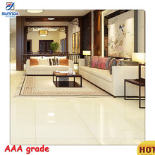 China Foshan beige yellow soluble salt polished porcelain tile, mirror glass ceramic and porcelain tile flooring