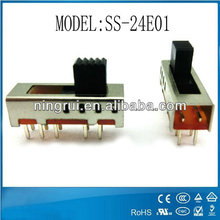 High Quality Electronic Mini dc Slide Switch 6 / 8 / 10 pins 2p 3t