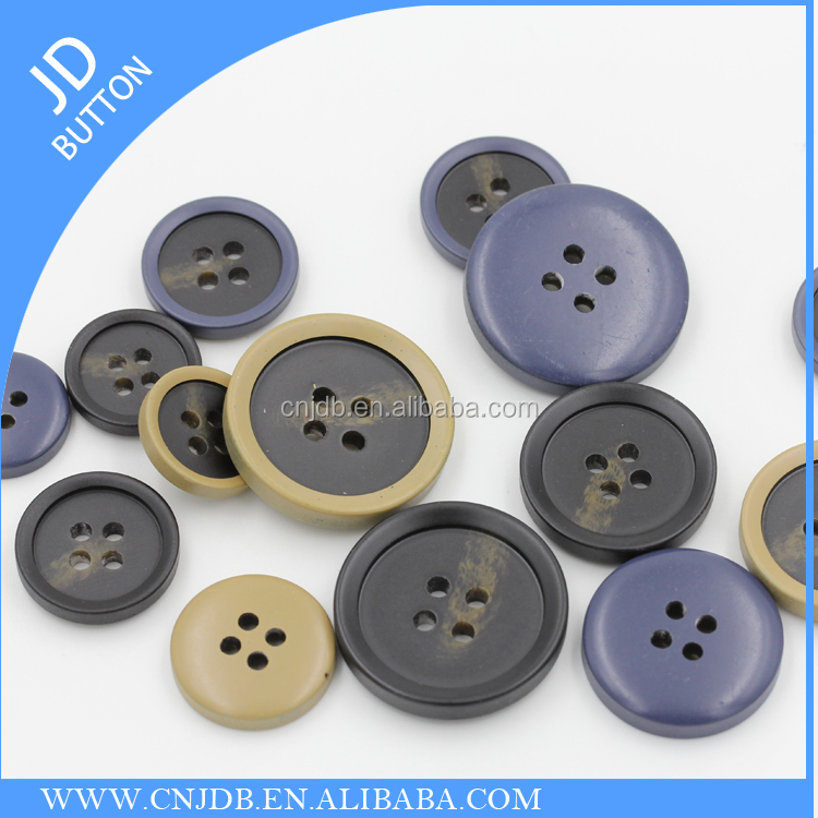 matt polyester resin sewing coat buttons 4holes for clothing