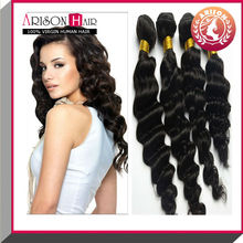 2015 wholesale fashion 5A brazilian remy curly brazilian loose curl human hair extensions