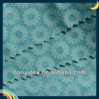 cotton cvc fabric burnout poplin design