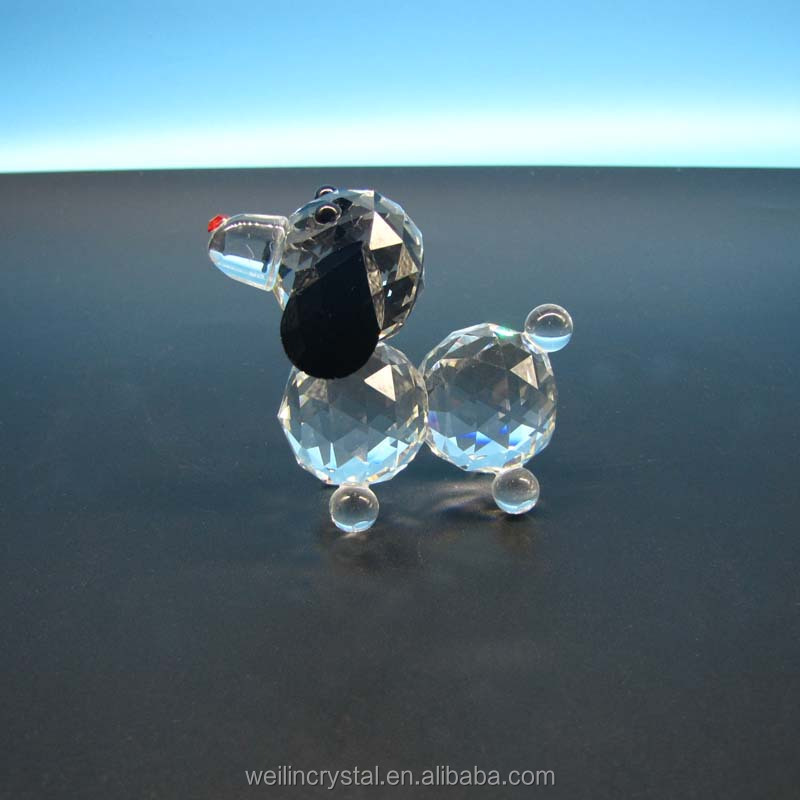 new arriving cheap price promotional one dollor funny glass crystal dogs