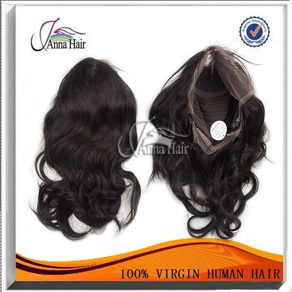 High quality Guangzhou human hair 2014 brazilian lace front wigs