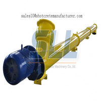 Equipped with central lubrication system stainless steel shaftless screw conveyor for silo cement