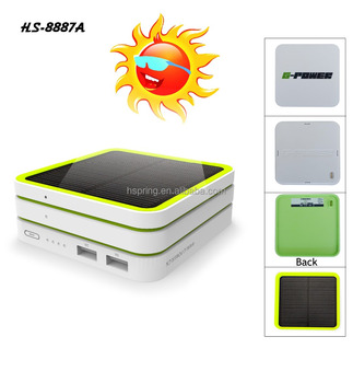 Factory direct price Custom design solar panel portable power bank