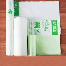 Factory directly sell garbage bag with logo biodegradable flat bags EN13432 BPI OK compost home ASTM D6400 certificates