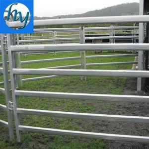 Green Colour Coated Horse Fence Panels Portable Metal Corral