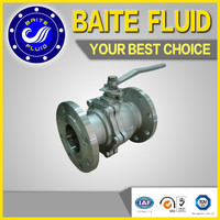 low torque manual gear operated stainless steel ball valve