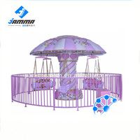 Amusement outdoor mini kiddie flying chair for park ride
