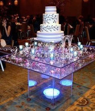 Transparent Acrylic Home Furniture coffee tables Acrylic End Table Pure Acrylic Wedding Table With Inside Lighting