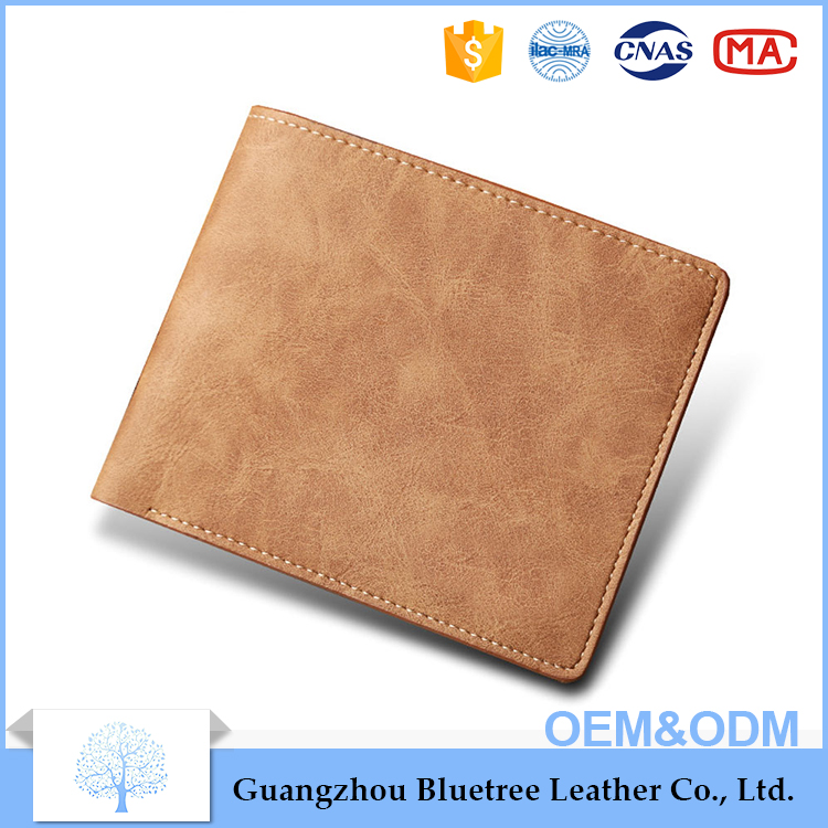 2017 promotion personalized product pu wallet for men brand new custom made logo wallet men