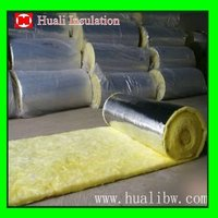 One side aluminum foil glass wool insulation blanket
