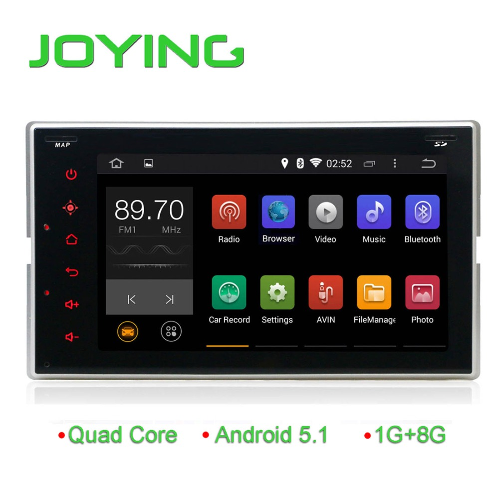 android 5.1.1 head unit car stereo car dvd/cd player 6.2 inch quad core universal GPS navigation android car